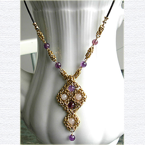 Amethyst and rosequartz1 necklace