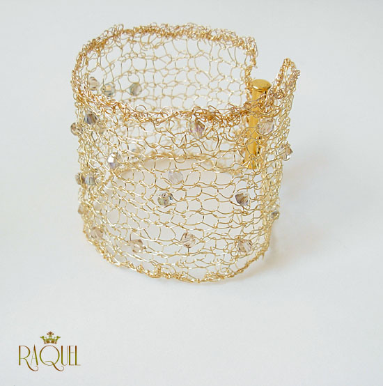 images/gold knitted cuff with crystals 2.jpg