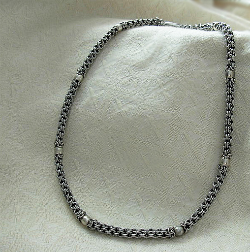 mens stainless steel captive round necklace