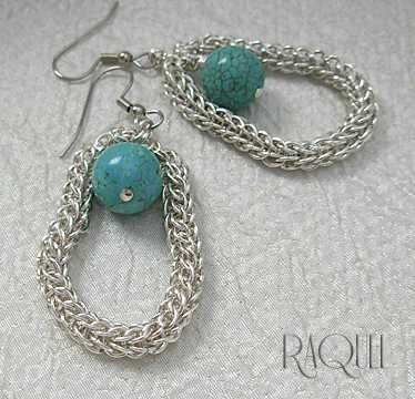 images/turquoise in persian frame silver earrings.jpg