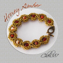 amber and sardonyx chainmaille bracelet
