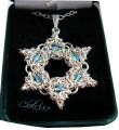 chainmaille  magen david necklace